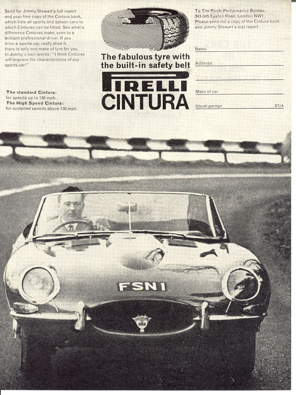 E-type Jaguar fitted with PIRELLI CINTURATO ™